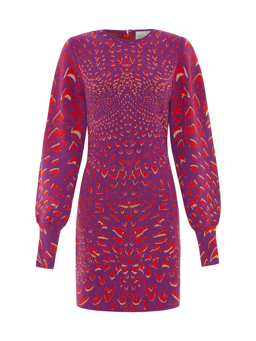 Wings Jacquard Mini Dress