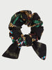 Midnight Safari Organic Cotton Tie Scrunchie