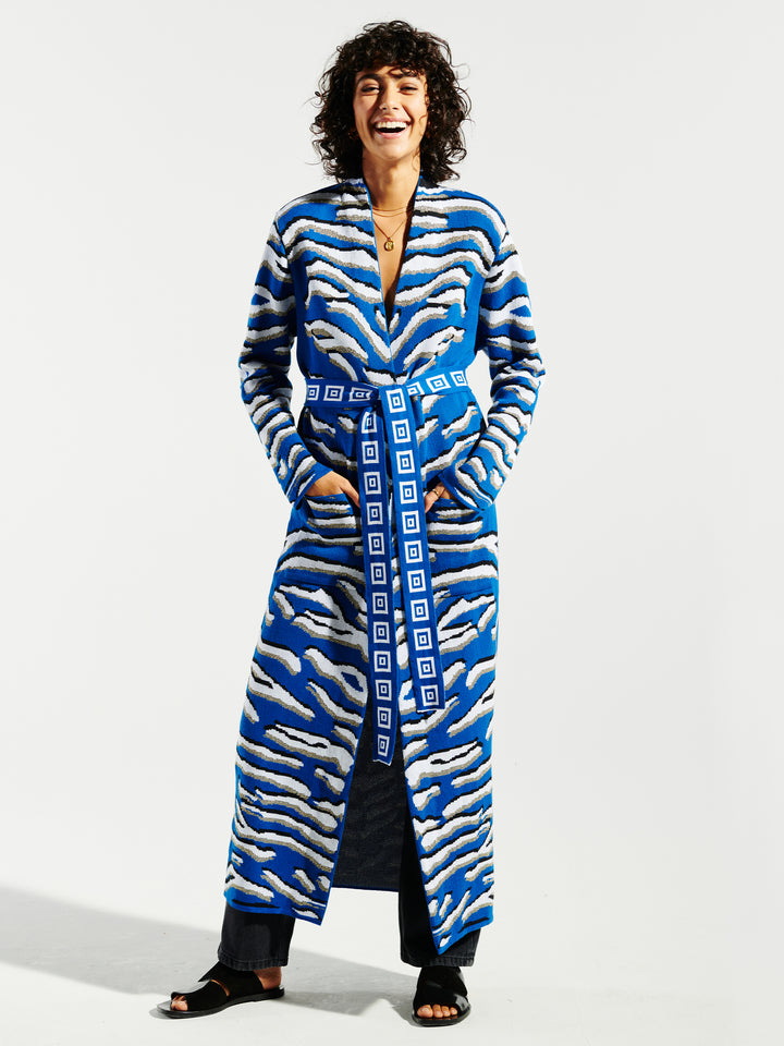 Shimmering Tiger Cotton Jacquard Duster