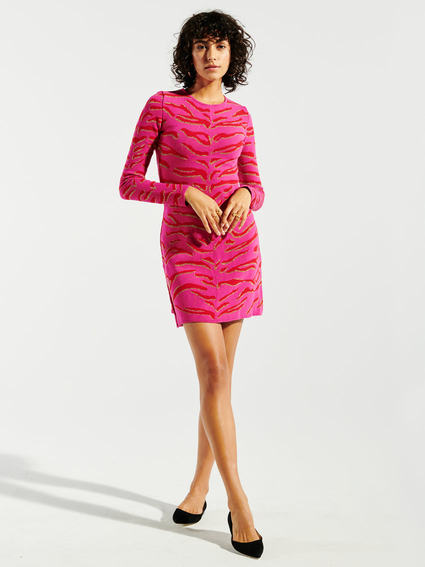Tiger 54 Jacquard Knit Mini Dress