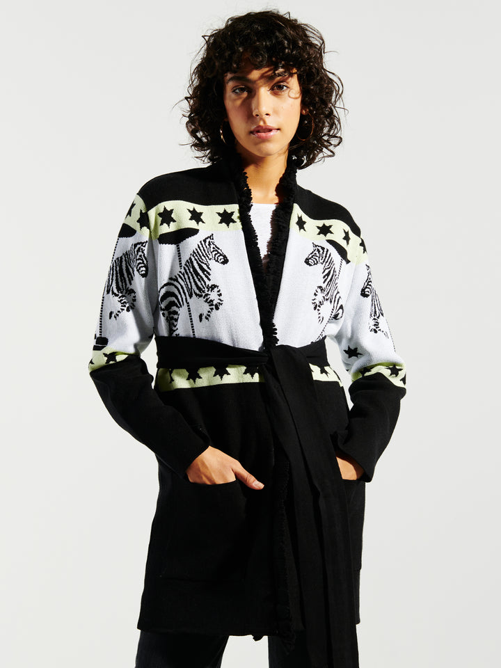 Carousel Cotton Jacquard Cardigan