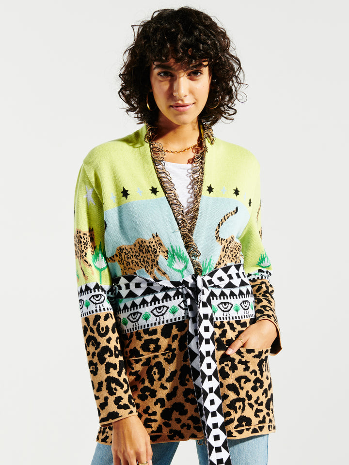 Leopardess Cotton Cardigan