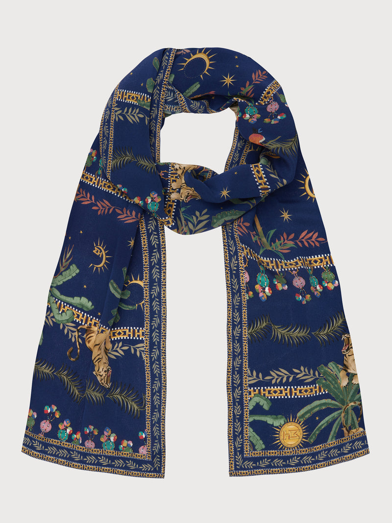 Twilight Safari Silk Scarf