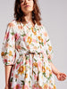 Daydream Cotton Broderie Midi Volume Shirt Dress