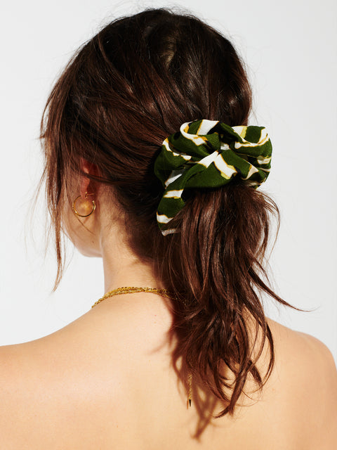 Shimmering Water Tiger Silk Scrunchie