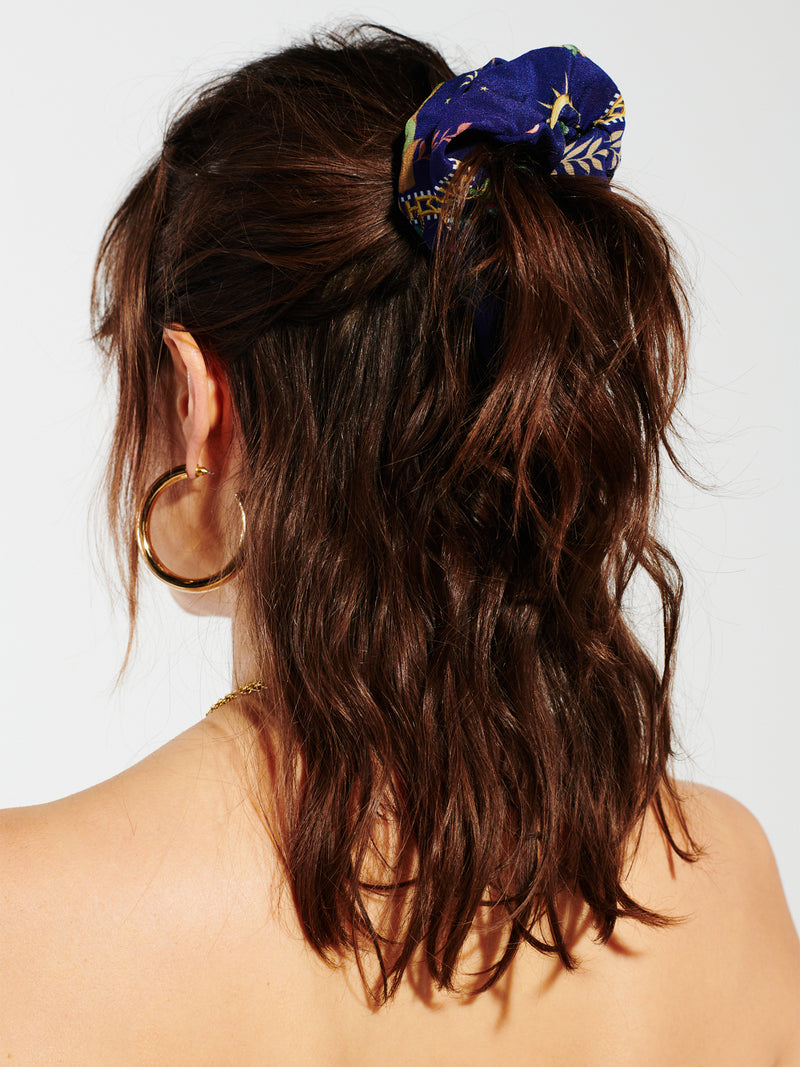 Twilight Safari Silk Scrunchie