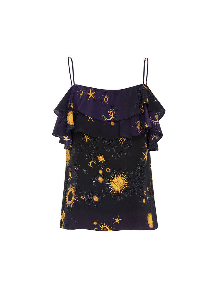 Superstar Struck Silk Frill Cami