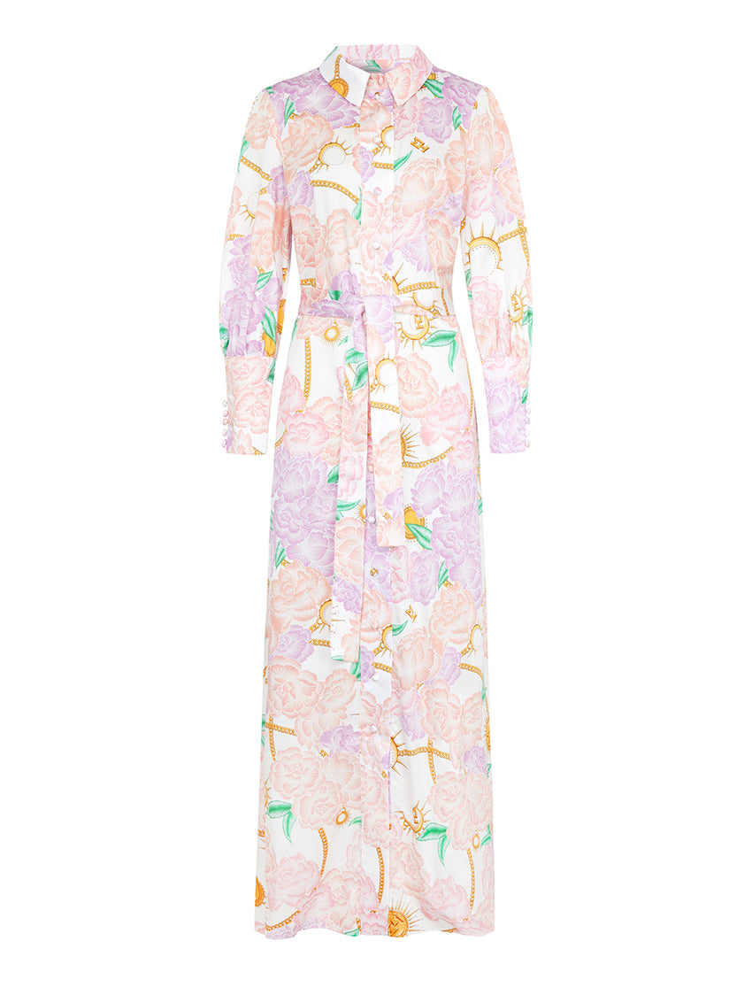 Luna Flora Maxi Shirt Dress