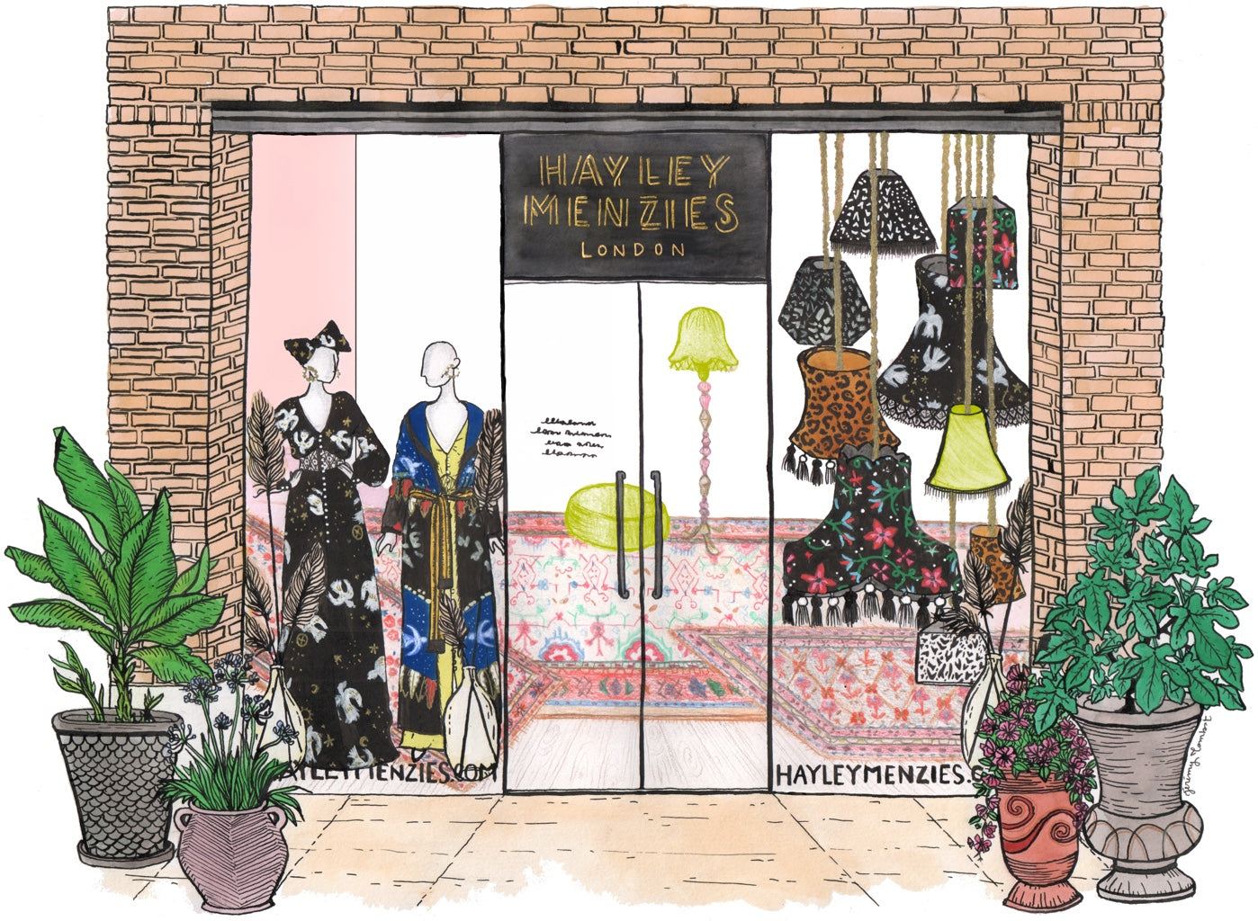 Illustration of Hayley Menzies Store