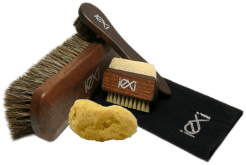 Shoe Brush Set with Horsehair Shine & Applicators by Iexi Italy - ValentinoGaremi
