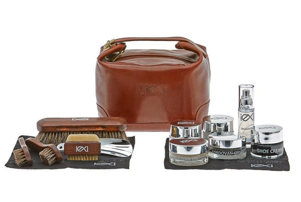 Luxury Shoe Shine Kit – Ultimate Gift Leather Care Set by IEXI Italy - ValentinoGaremi
