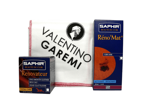 Saphir Rejuvenating Leather Care Set - Clean & Condition Effective Kit - ValentinoGaremi