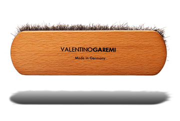 Shoe Shine Brush – Long Shaft Slotted Horsehair by Valentino Garemi - ValentinoGaremi
