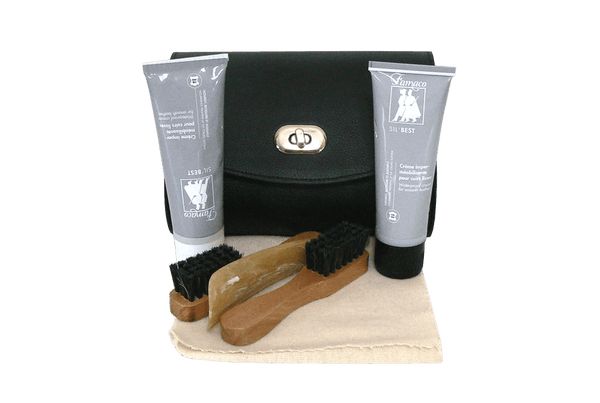 Travel Shoe Care Kit - Superb Leather Gift Case by Famaco France - ValentinoGaremi