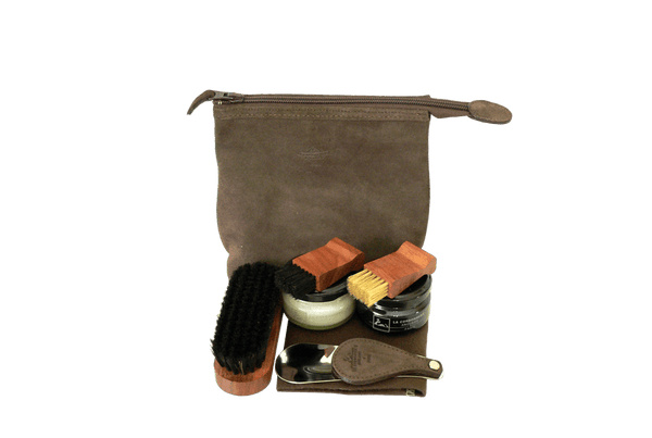 La Cordonnerie Anglaise Biarritz Travel Kit - Suede Leather - ValentinoGaremi