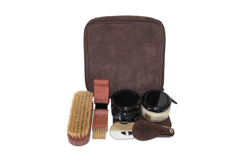 Shoe Care Set - Luxury Travel Kit - Flyer by La Cordonnerie Anglaise - France - ValentinoGaremi