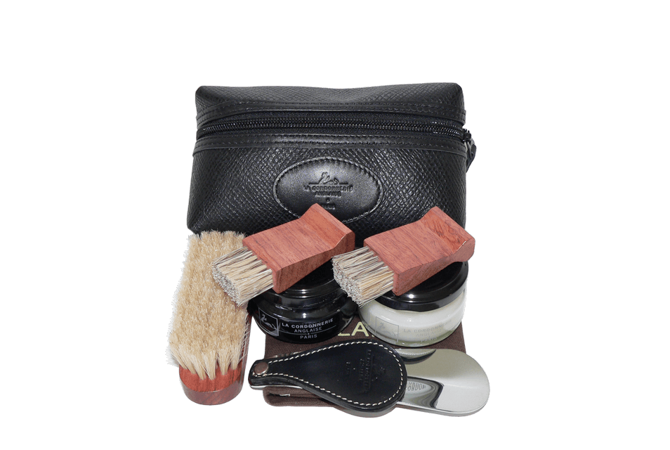 Shoe Care Kit - Travel Set by La Cordonnerie Anglaise France - ValentinoGaremi