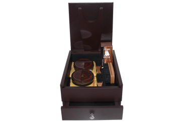 Shoe Shine Kit - Men Ideal Gift Set - Pied Valet Box by Famaco Paris - ValentinoGaremi