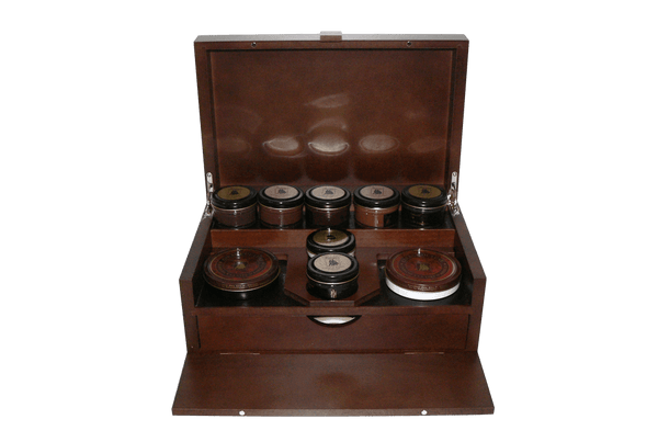 Shoe Shine Kit - Luxury Shoe Care Set - The King by Famaco France - ValentinoGaremi