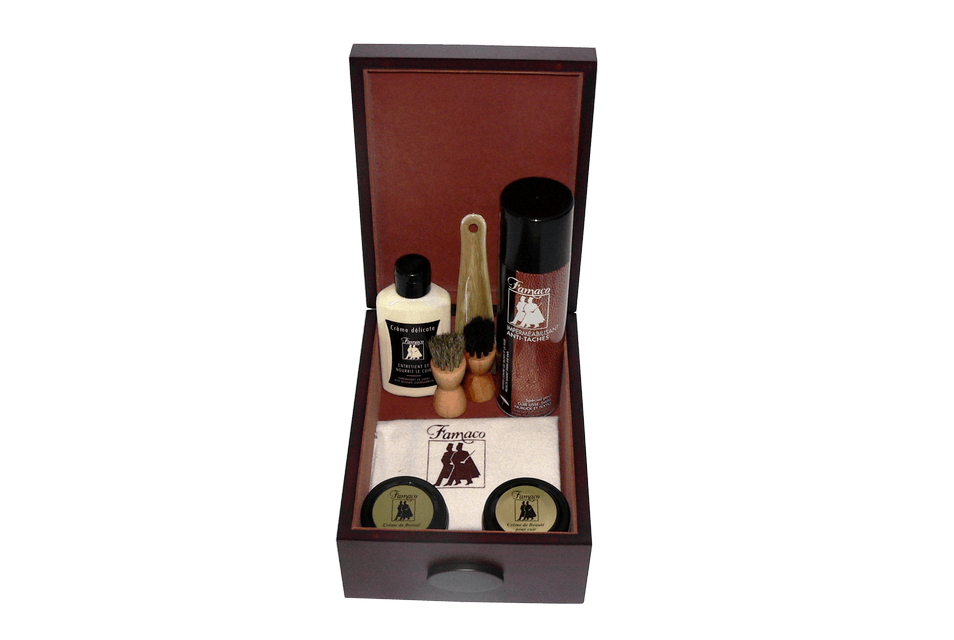 Luxury Shoe Care Valet Rosewood by Famaco - ValentinoGaremi