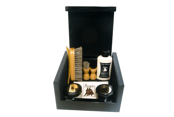 Luxury Shoe Care Kit - Leather Care Gift Set Renoir By Famaco - ValentinoGaremi