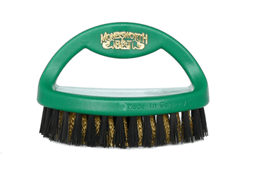 Suede Brush - Brass & Strong Polymer Bristles by Moneysworth & Best - ValentinoGaremi