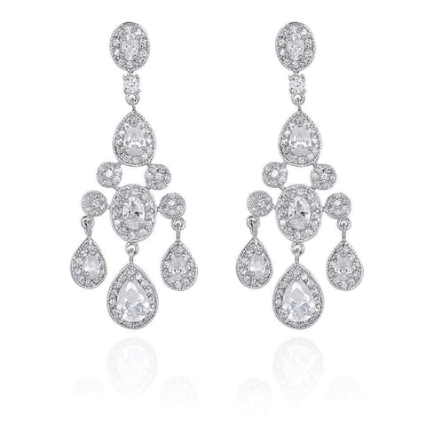 Chandelier Wedding Earrings - Olivier Laudus