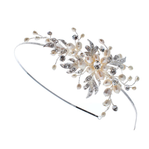 Bridal Pearl and Crystal Headbands - Olivier Laudus