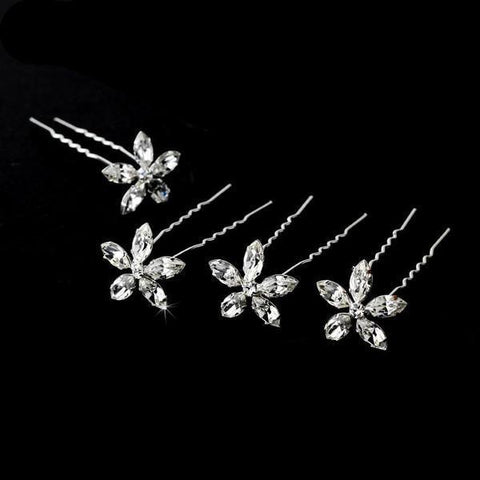 Crystal And Diamante Wedding Hair Pins - Olivier Laudus