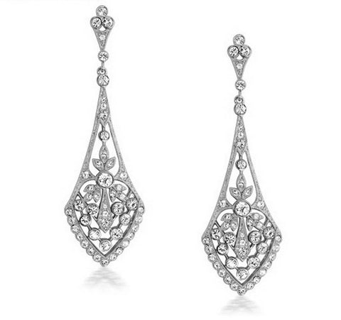 Donna Diamante Bridal earrings
