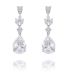 Antoinette Simulated Diamond Earrings - Olivier Laudus Wedding Jewellery