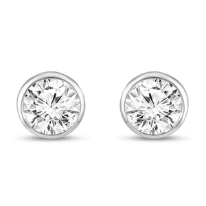 Aspen Simulated Diamond Stud Earrings - Olivier Laudus Wedding Jewellery