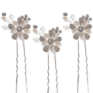 Bouquet Hair Pins set of 3 - Olivier Laudus Wedding Jewellery