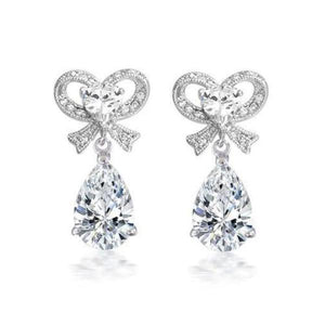 Charlotte Cubic Zirconia Bow Earrings - Olivier Laudus Wedding Jewellery