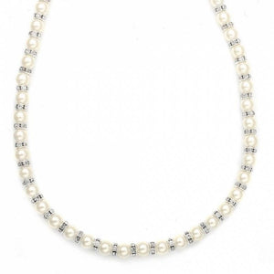 Eileen Pearl And Rondelle Necklace - Olivier Laudus Wedding Jewellery