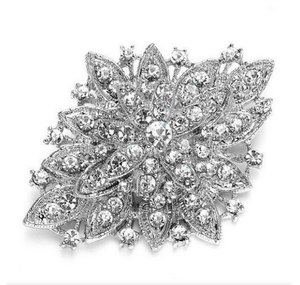 Elie Diamante Wedding Brooch - Olivier Laudus Wedding Jewellery