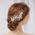 Enchanted Gold Pearl Hair Comb - Olivier Laudus Wedding Jewellery