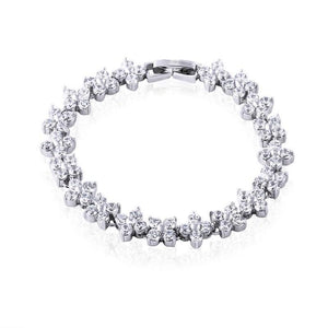 Francine Platinum Plated Bracelet - Olivier Laudus Wedding Jewellery
