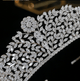 Gloria Luxury Platinum Plated Tiara - Olivier Laudus Wedding Jewellery