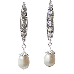 Harriet Drop Earrings - Olivier Laudus Wedding Jewellery