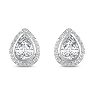 Hester Simulated Diamond Stud Earrings - Olivier Laudus Wedding Jewellery