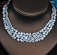 Inara Statement Simulated Diamond Necklace Set - Olivier Laudus Wedding Jewellery