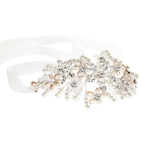 Juliette Pearl and Diamante soft headband - Olivier Laudus Wedding Jewellery