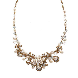 Kensington Gold Freshwater Pearl Necklace - Olivier Laudus Wedding Jewellery