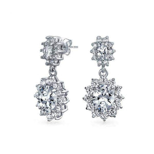 Magda Simulated Diamond Earrings - Olivier Laudus Wedding Jewellery
