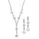 Nicolina Simulated Diamond Necklace set - Olivier Laudus Wedding Jewellery