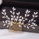 Opaline Hair Comb - Large - Olivier Laudus Wedding Jewellery