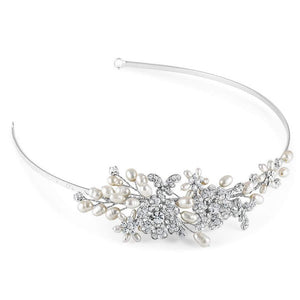 Papillon Side Tiara - Olivier Laudus Wedding Jewellery