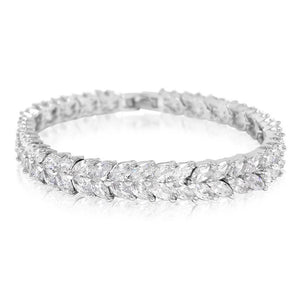 Paulette Simulated Diamond Bracelet - Olivier Laudus Wedding Jewellery
