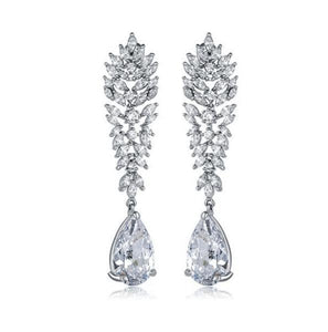 Rhiana Chandelier Earrings - Olivier Laudus Wedding Jewellery